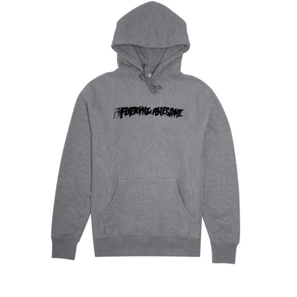 Fucking Awesome Stamp Pullover Hooded Sweatshirt (Grey Heather)