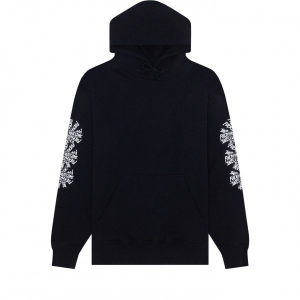 Fucking Awesome Three Spiral Pullover Hooded Sweatshirt (Black)