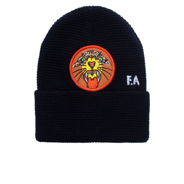 Fucking Awesome Tiger Cuff Beanie (Black)