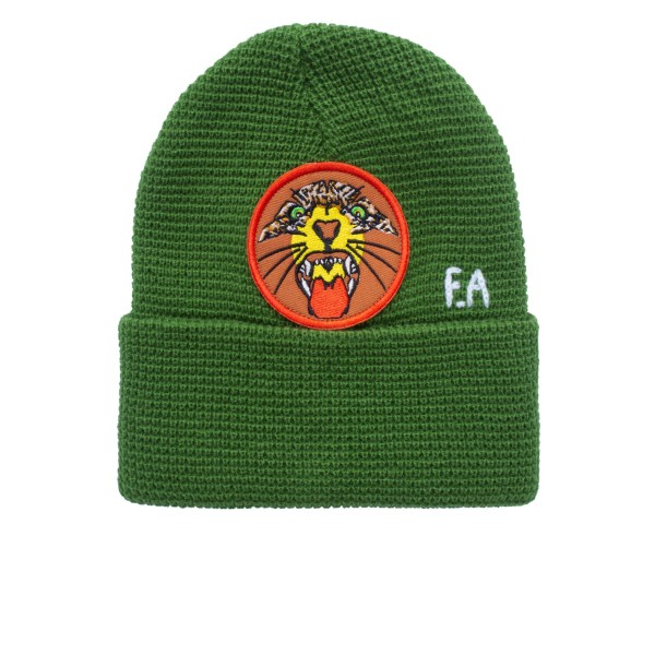 Fucking Awesome Tiger Cuff Beanie (Forest Green)