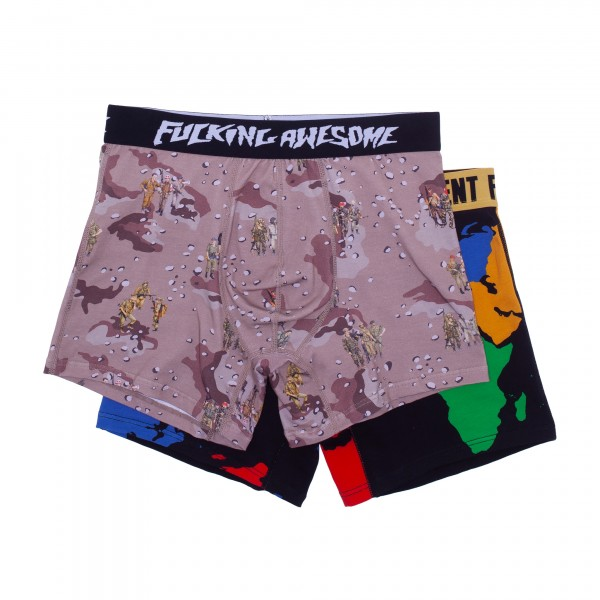 Fucking Awesome Two Pack Boxer Briefs (Soldier/World Art)