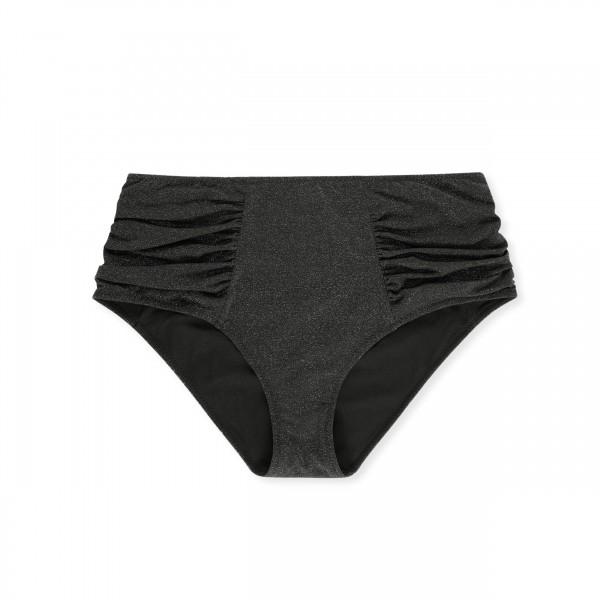 GANNI Glitter Highrise Bikini Briefs (Black)