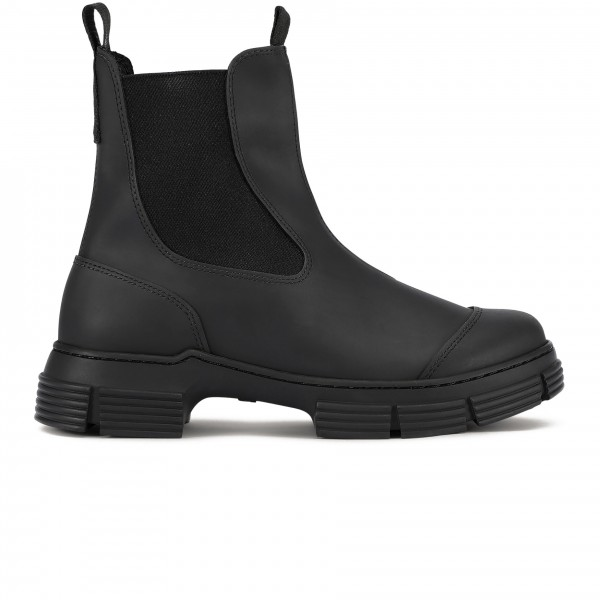 GANNI Recycled Rubber City Boot (Black)