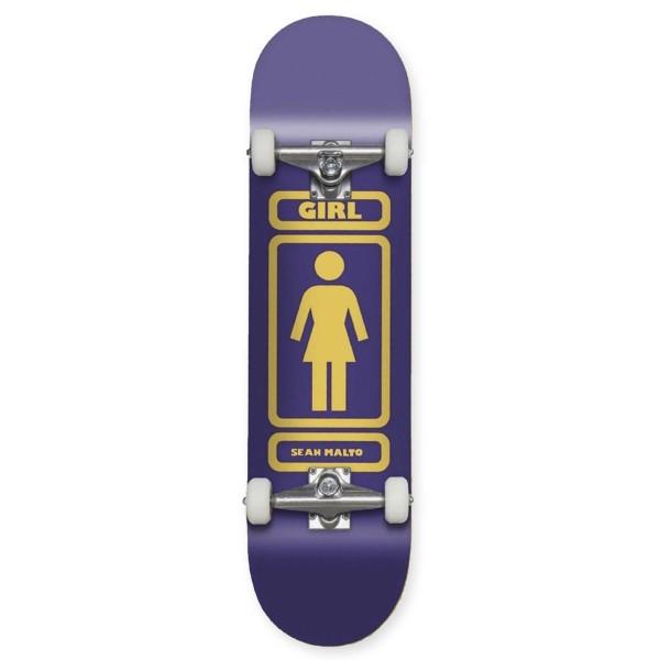 "Girl Skateboard Co. 93 Til W40 V2 Sean Malto Complete Skateboard 8.125"""