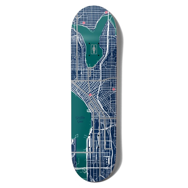 "Girl Skateboard Co. Griffin Gass Pin Point One Off W41 Skateboard Deck 8.5"""