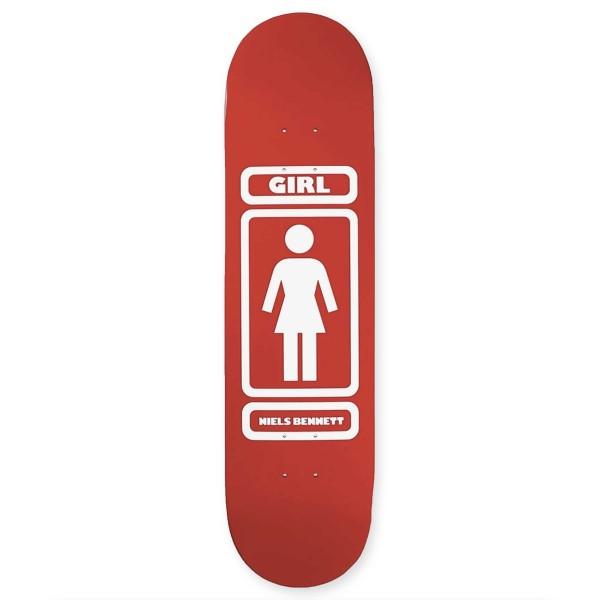 """Girl Skateboard Co. Niels Bennett 93 Til Infinity W40 V2 Skateboard Deck 8.125"""""""