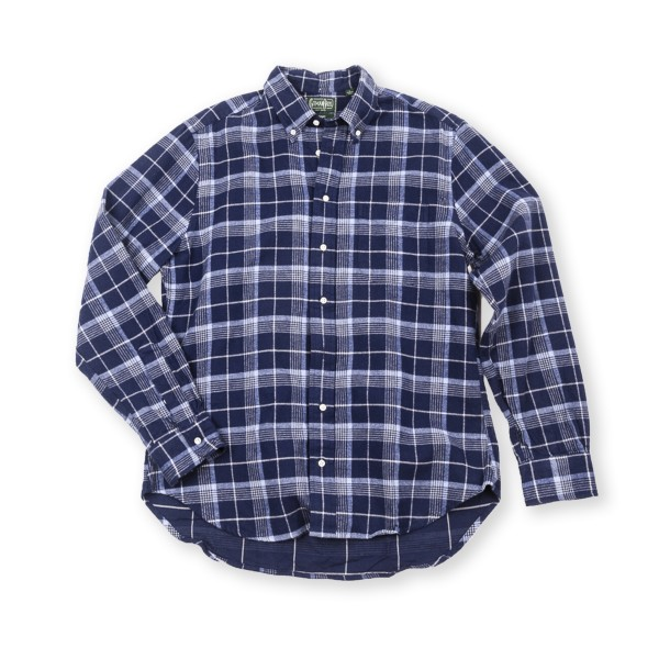 Gitman Vintage Flannel Check Long Sleeve Shirt (Blue)