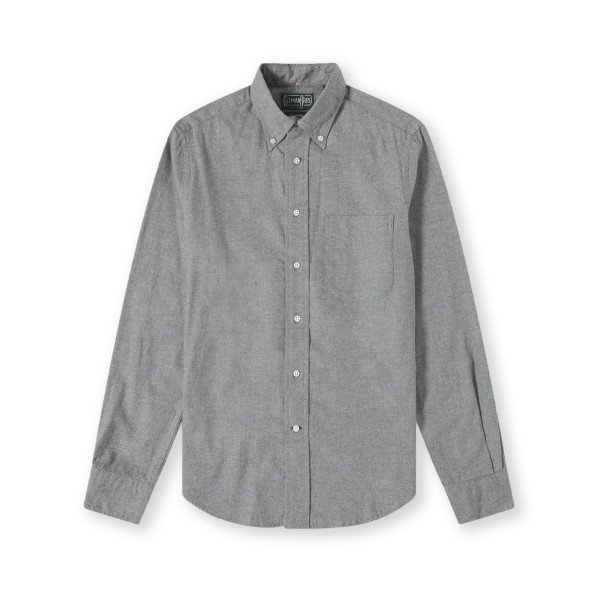 Gitman Vintage Flannel Long Sleeve Shirt (Grey)