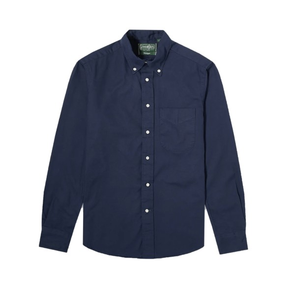 Gitman Vintage Oxford Long Sleeve Shirt (Navy)