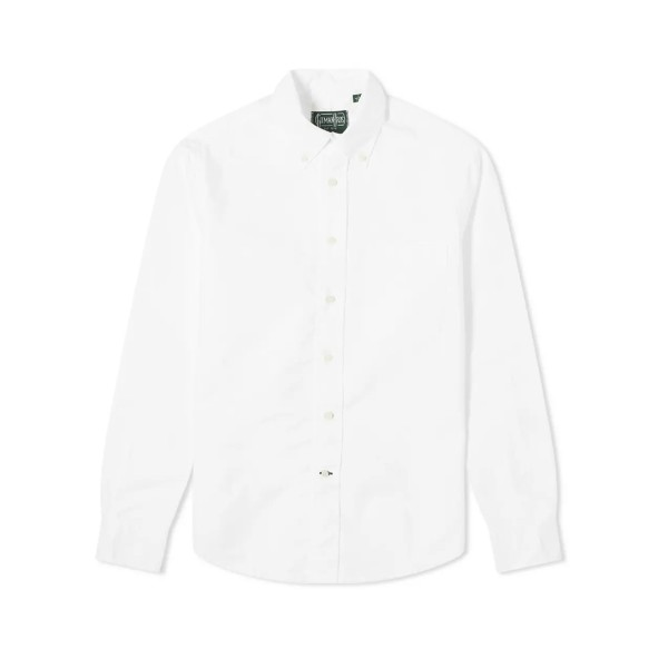 Gitman Vintage Oxford Long Sleeve Shirt (White)