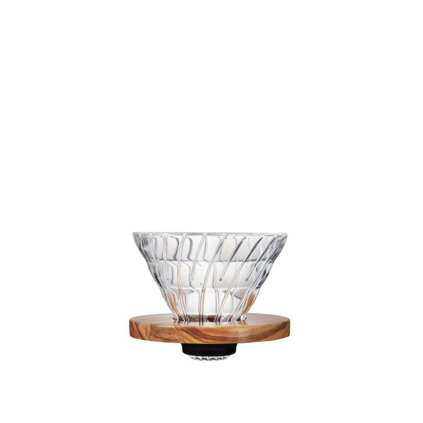 Hario V60 Glass Coffee Dripper 02 (Olive Green)
