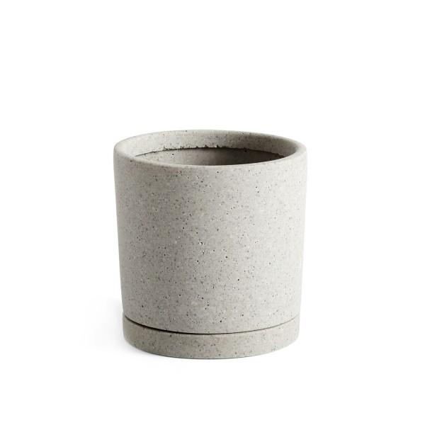 HAY Flowerpot with Saucer Medium (Grey)