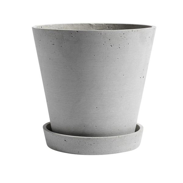 HAY Flowerpot with Saucer XL (Grey)