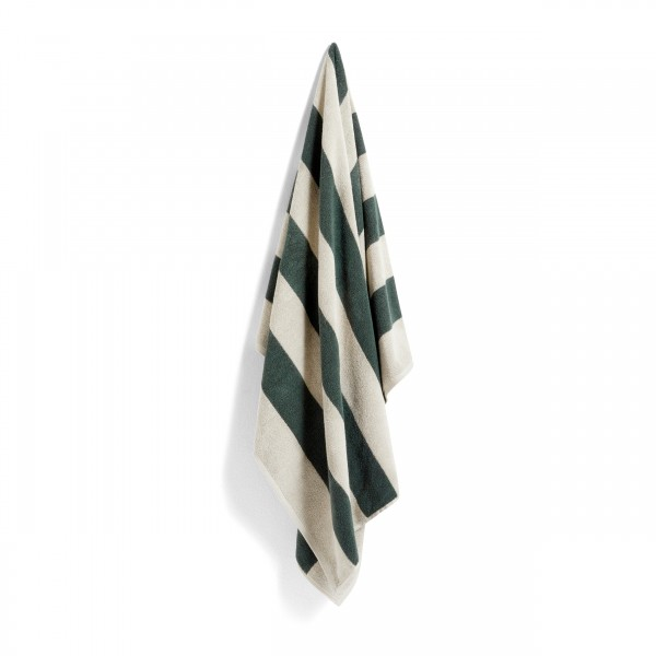 HAY Frotté Stripe Towel (Dark Green)