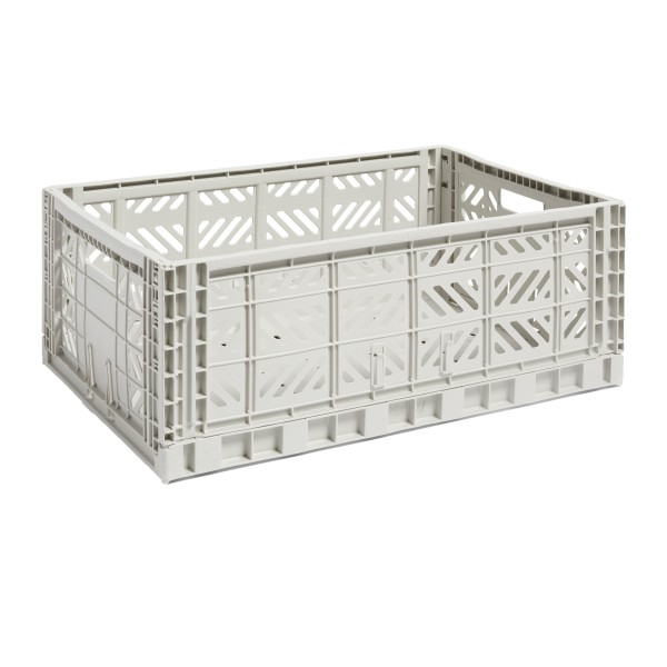 HAY Large Colour Crate (Light Grey)
