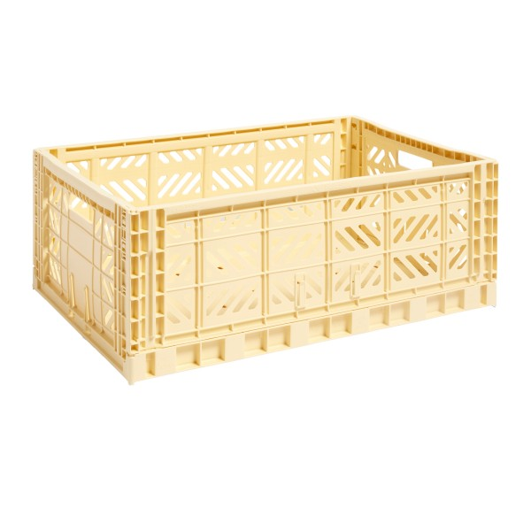 HAY Large Colour Crate (Light Yellow)
