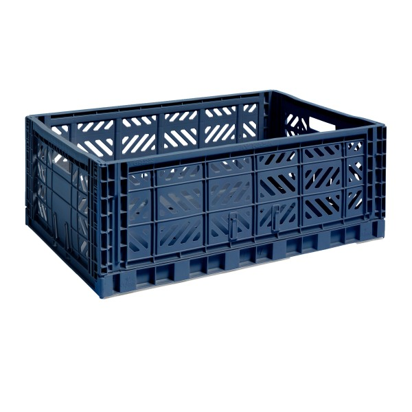 HAY Large Colour Crate (Navy)