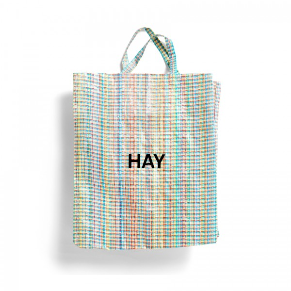 HAY Multi Check Shopper Bag XL
