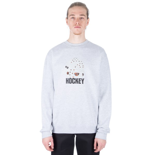 Hockey Mask Crew Neck Sweatshirt (Grey)