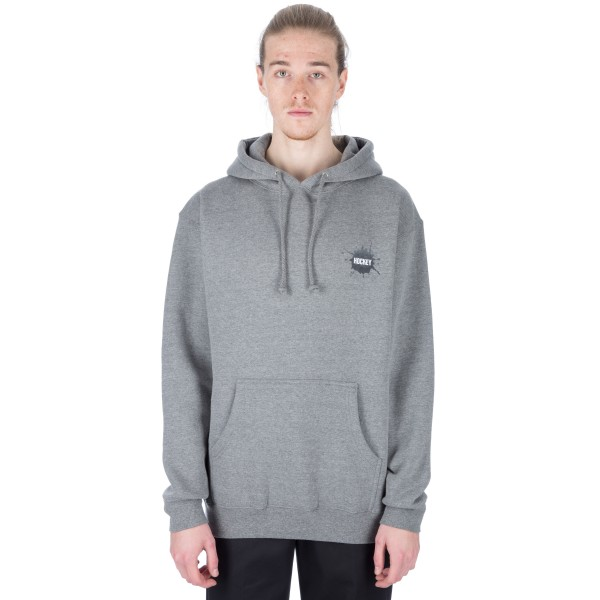 Hockey Splat Pullover Hooded Sweatshirt (Athletic Grey)