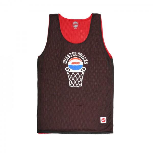 Hopps x Quartersnacks Street Composite Reversible B-Ball Jersey (Black/Red)