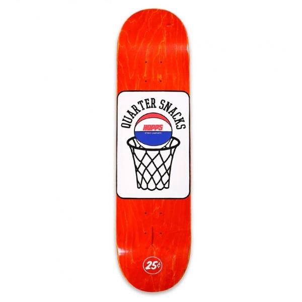 "Hopps x Quartersnacks Street Composite Skateboard Deck 8.0"" (Assorted Veneers)"