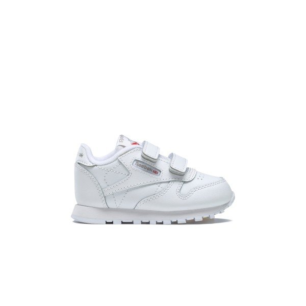 Infant Reebok Classic Leather (White/Carbon/Vector Blue)