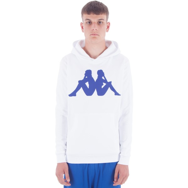 Kappa Kontroll LA.84 Omni Pullover Hooded Sweatshirt (White)