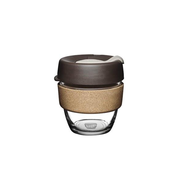 KeepCup Glass 8oz Brew Cork Reusable Cup (Almond)
