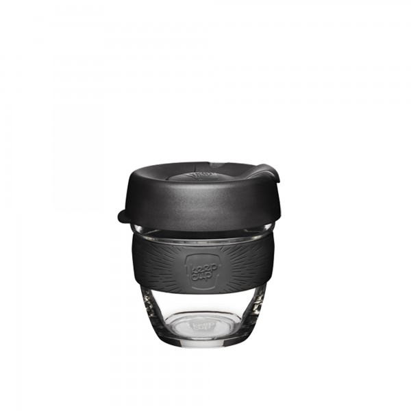 KeepCup Glass 8oz Brew Reusable Cup (Black)
