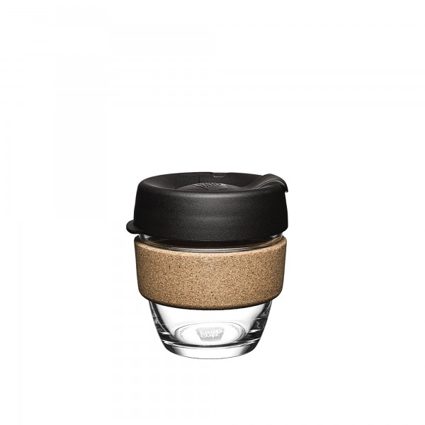 KeepCup Glass 8oz Brew Cork Reusable Cup (Black)