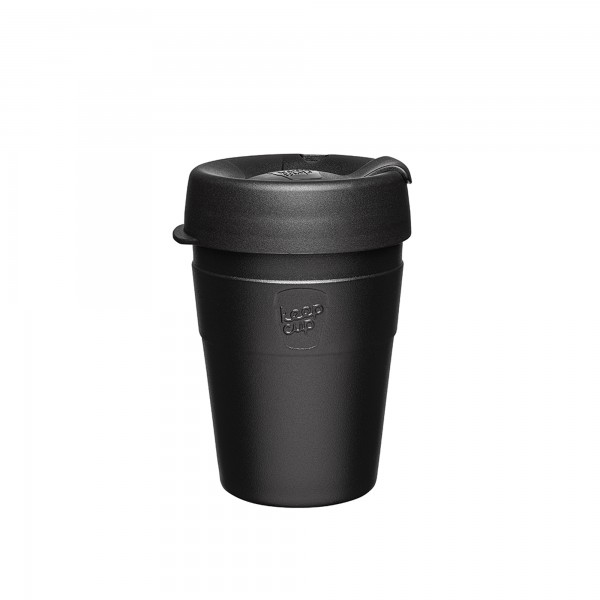 KeepCup Stainless Steel 12oz Thermal Reusable Cup (Black)