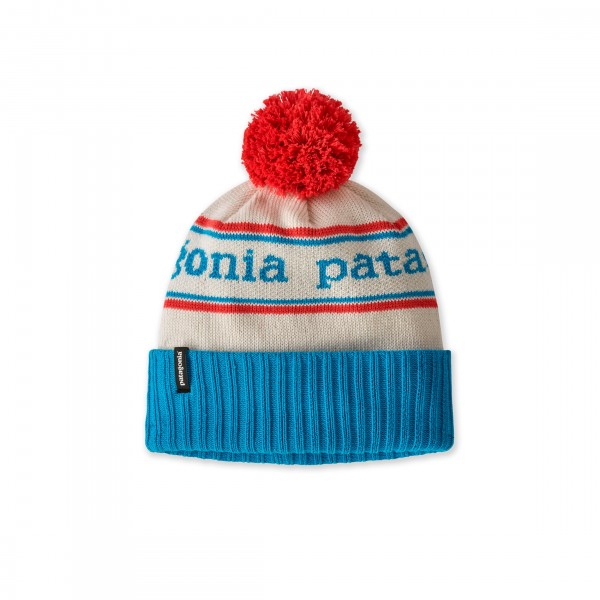 Kids' Patagonia Powder Town Beanie (Park Stripe Knit: Joya Blue)