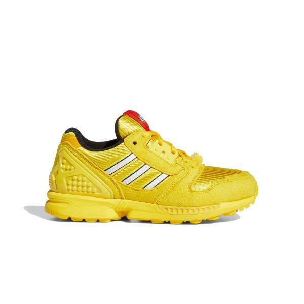 Kids' adidas Originals x LEGO ZX 8000 J 'Bricks' (EQT Yellow/Footwear White/EQT Yellow)