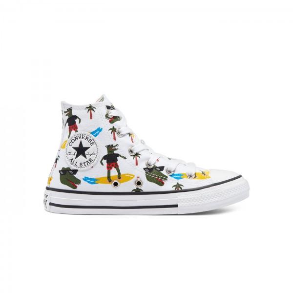 Kids' Converse Croco Surf Chuck Taylor All Star Hi (White/Multi/Black)