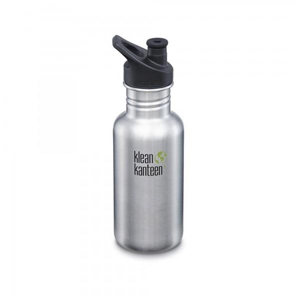 Klean Kanteen Classic 532ml Bottle w/Sports Cap 3.0 (Stainless Steel)