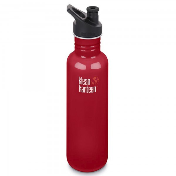 Klean Kanteen Classic 800ml Bottle w/Sports Cap 3.0 (Mineral Red)