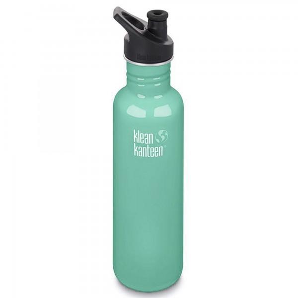 Klean Kanteen Classic 800ml Bottle w/Sports Cap 3.0 (Sea Crest)