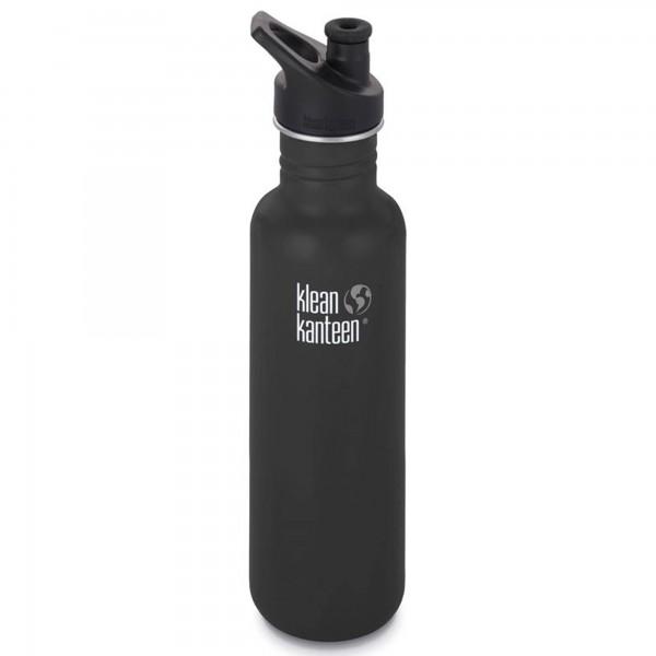 Klean Kanteen Classic 800ml Bottle w/Sports Cap 3.0 (Shale Black)