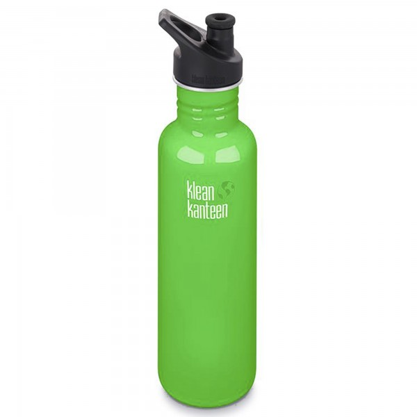 Klean Kanteen Classic 800ml Bottle w/Sports Cap 3.0 (Spring Green)