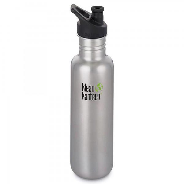 Klean Kanteen Classic 800ml Bottle w/Sports Cap 3.0 (Stainless Steel)