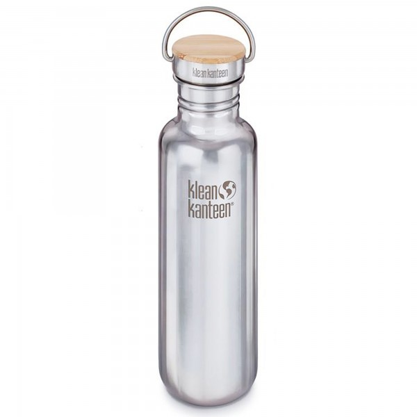 Klean Kanteen Classic Reflect 800ml Bottle w/Bamboo Cap (Mirrored Stainless Steel)