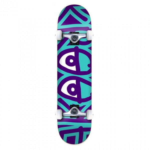 """Krooked Bigger Eyes SM Complete Skateboard 7.5"""" (Multi)"""