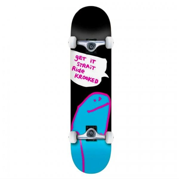 """Krooked OG Shmoo LG Complete Skateboard 8.0"""" (Black)"""
