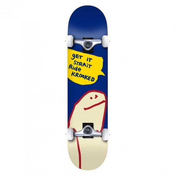 """Krooked OG Shmoo MD Complete Skateboard 7.75"""" (Blue)"""