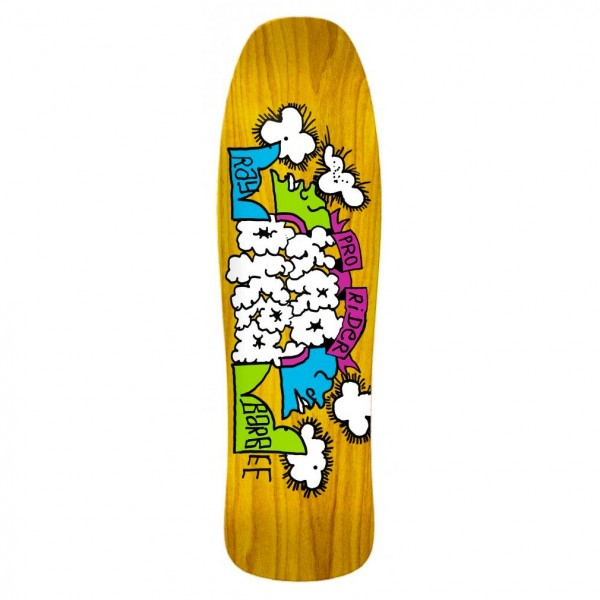 """Krooked Ray Barbee Clouds Skateboard Deck 9.5"""" (Yellow)"""