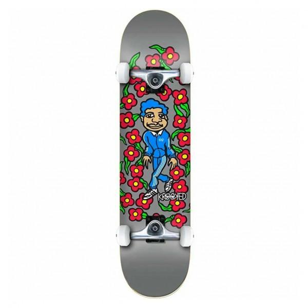 "Krooked Team Sweatpants LG Complete Skateboard 8.0"" (Grey)"