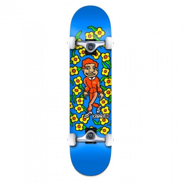 """Krooked Team Sweatpants MD Complete Skateboard 7.75"""" (Blue)"""