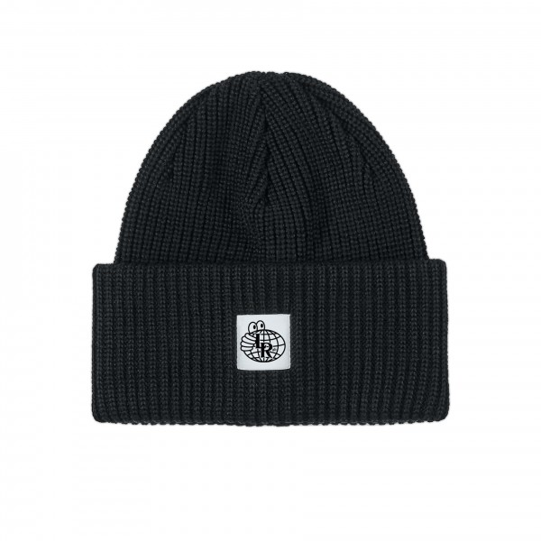 Last Resort AB Double Fold Merino Beanie (Black)