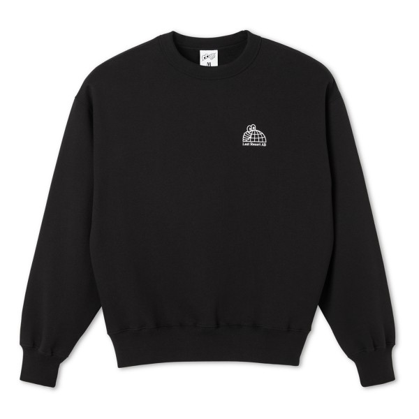 Last Resort AB Half Globe Crew Neck Sweatshirt (Black)